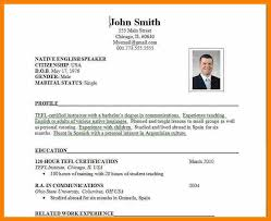 resume in english sample of high resume with keyword