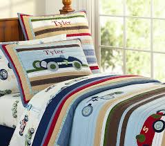 Pottery Barn Kids Twin Quilt New Pottery Barn Kids Tyler Race Car Twin Quilt Sheets Twin