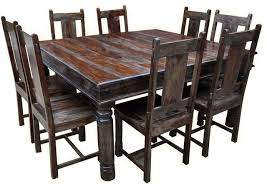 rustic square dining table all wood dining room table of worthy solid wood rustic piece square