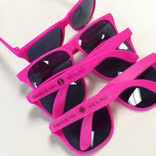 personalized sunglasses wedding favors hot pink personalized sunglasses wedding favors wedding favors