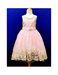 kids pink front short back long champagne wedding dress