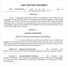 Joint Venture Agreement Template Pdf free joint venture agreement template kidscareer info