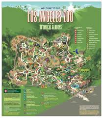 Los Angeles District Map by La Zoo Botanical Gardens Map Cali Pinterest Zoos Los