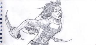 savage warrior sketch by spartanaltair117 on deviantart