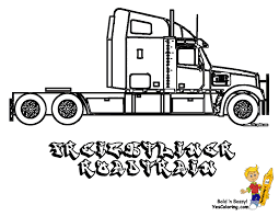 monster truck coloring book coloring 5 freightliner truck