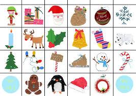 free christmas bingo cards print christmas lights decoration