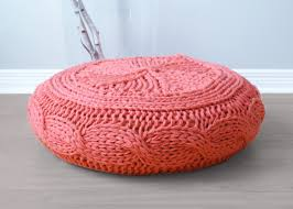 Knitting Home Decor Diy Knitting Pattern Cable Knit Footstool Cover Fits Ikea U0027s