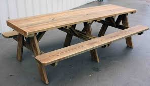 Free Woodworking Plans For Picnic Table by Picnic Table Bench Plans Free Bench Decoration