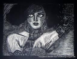 meredith studio sketch diary tbt scratch art vogue princess