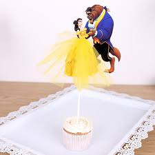 beauty and the beast cake topper 1pcs the beauty and the beast cake toppers cupcake accessory tutu