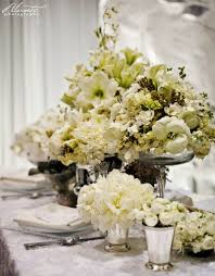 white flower centerpieces charming wedding table decoration with various white flower