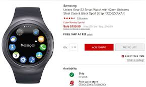 samsung smartwatch black friday best 5 cyber monday wearable deals gear s3 fitbit and more