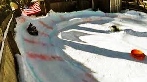 long island man builds backyard luge amid snowy winter nbc new york