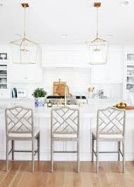 bright white kitchen design with gold accents studio mcgee