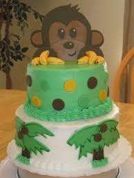 monkey jungle themed baby shower cake cakecentral com
