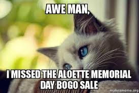 Awe Meme - awe man i missed the aloette memorial day bogo sale first world