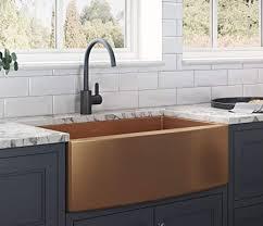 kitchen base cabinet uae ruvati copper tone 36 inch apron front farmhouse kitchen
