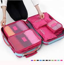 6pcs waterproof cube travel storage bags clothes pouch