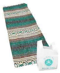 amazon com hand woven classic mexican yoga blanket and rolling