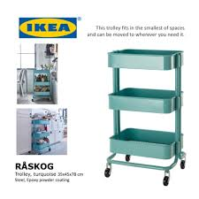 ikea raskog steel epoxy powder coated kitchen shop trolley