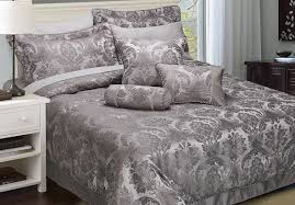 silver and purple bedding decorate my house
