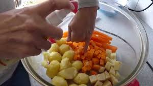 how to cook all your vegetables together in the halogen oven