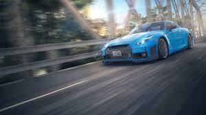 Nissan Gtr Blue - car nissan nissan gtr blue cars motion blur wallpapers hd