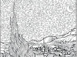 coloring page for van starry night coloring sheet bcprights org