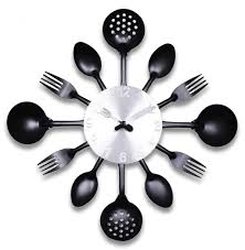 total fab kitchen utensils wall clocks