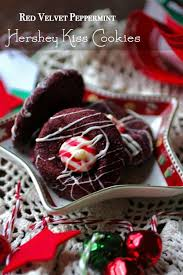 hershey kiss cookies holiday red velvet peppermint restless