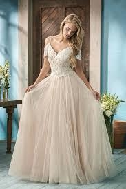 wedding dress eng sub f191053 v neck lace net wedding dress with beading