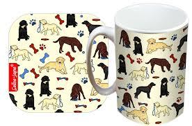 selina jayne labtadors mug and coaster gift set