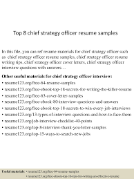 Strategy Resume Top8chiefstrategyofficerresumesamples 150424221244 Conversion Gate02 Thumbnail 4 Jpg Cb U003d1429931619