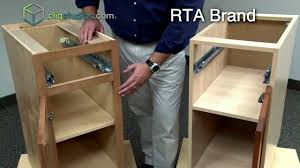 cliqstudios vs ready to assemble cabinets rta cabinets youtube