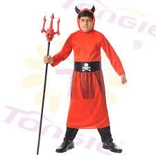 popular halloween cosplay costume kid devil costume in red