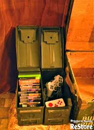 ammo cans repurposed into video game u0026 controller storage