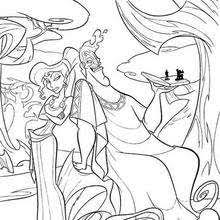 hercules coloring page baby hercules with snakes coloring pages hellokids com