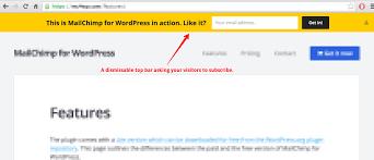 Pop A Top Bar Mailchimp Top Bar U2014 Wordpress Plugins