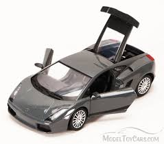 Lamborghini Gallardo Black - lamborghini gallardo superleggera gray with black roof motormax