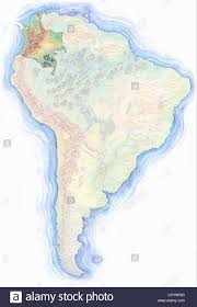 Equator Map South America by Highly Detailed Hand Drawn Map Of Colombia Within The Outline Of