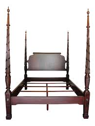 ethan allen laurel four poster bed chairish