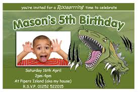 Invitation Card Birthday Dinosaur Birthday Party Invitations Theruntime Com