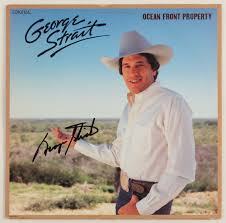 lot detail george strait signed front property album cover