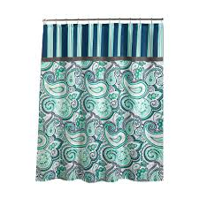 Paisley Shower Curtain Blue by Beige Shower Curtains Shower Accessories The Home Depot