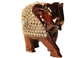 wooden elephant showpiece elephant figurine online