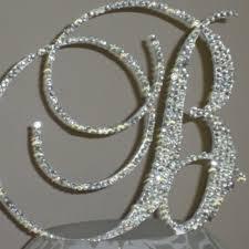 b cake topper bling monogram wedding cake toppers idea in 2017 wedding