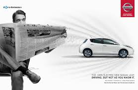 nissan leaf in pakistan nissan print advert by tbwa feel the surge guy ads of the world