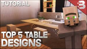 Table Designs by Top 5 Modern Table Designs In Minecraft Tutorial Youtube
