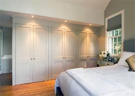 Wall To Wall Closet Doors Built In Closet Wall Great Storage Space Home Designing