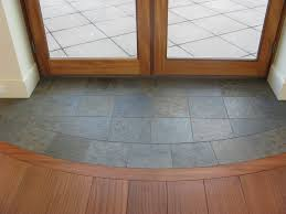slate entryway to protect hardwood floors at french door for when